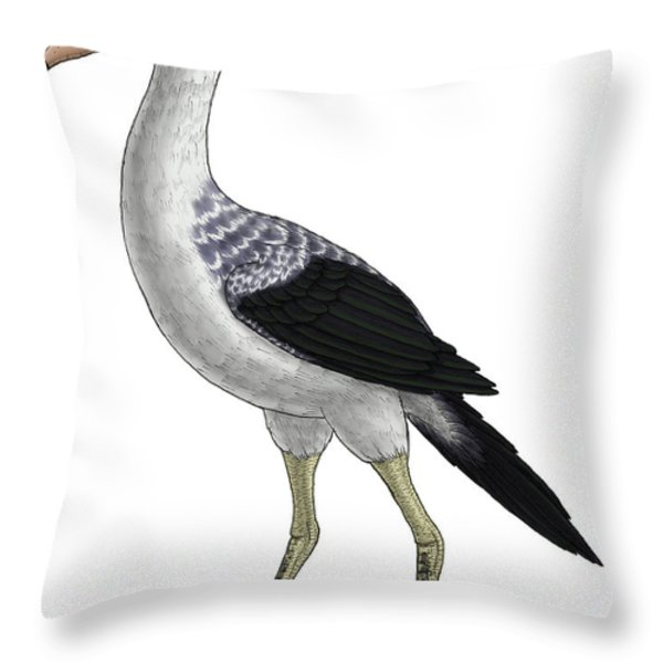 Presbyornis, An Extinct Genus Throw Pillow by Vitor Silva