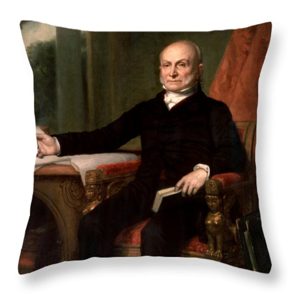 President John Quincy Adams  Throw Pillow by War Is Hell Store
