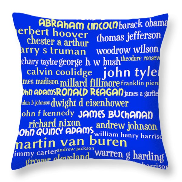 Presidents of The United States 20130625 Throw Pillow by Wingsdomain Art and Photography