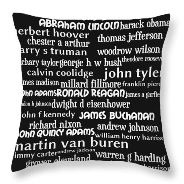 Presidents of The United States 20130625bw Throw Pillow by Wingsdomain Art and Photography