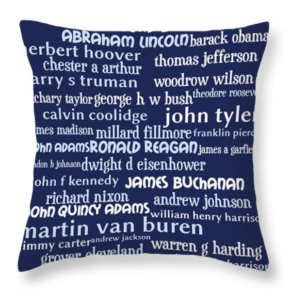 Presidents of The United States 20130625bwco80 Throw Pillow by Wingsdomain Art and Photography