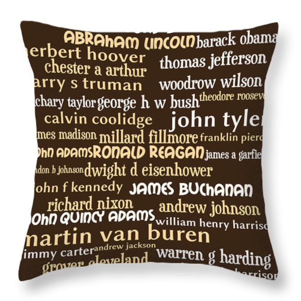 Presidents of The United States 20130625bwwa85 Throw Pillow by Wingsdomain Art and Photography