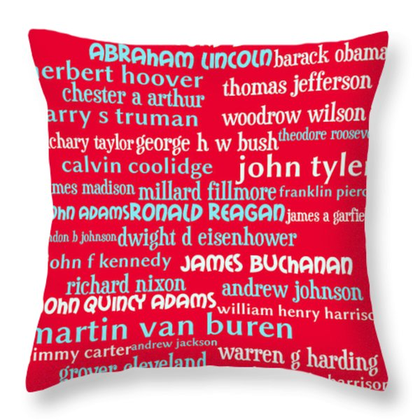 Presidents of The United States 20130625p120 Throw Pillow by Wingsdomain Art and Photography