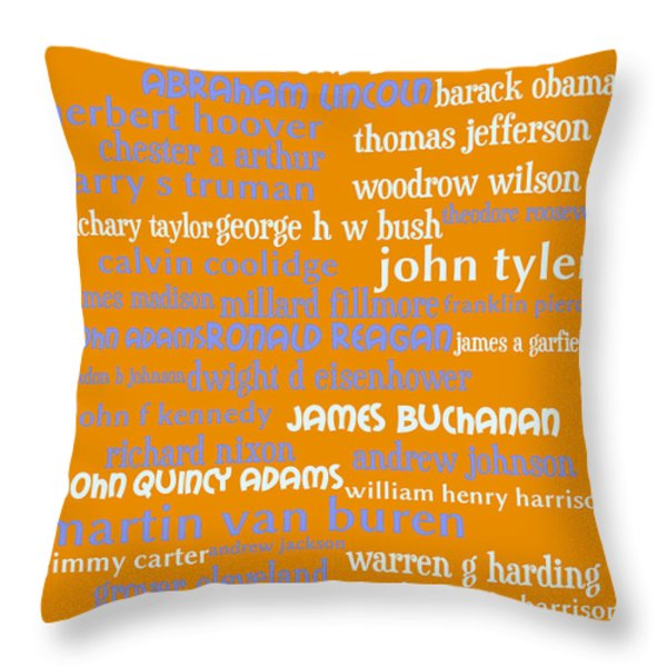 Presidents of The United States 20130625p168 Throw Pillow by Wingsdomain Art and Photography