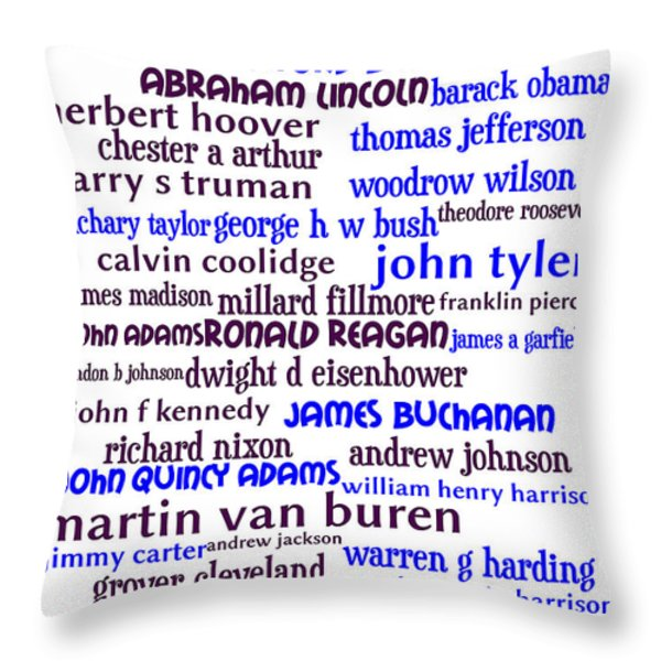 Presidents of The United States 20130625whi Throw Pillow by Wingsdomain Art and Photography