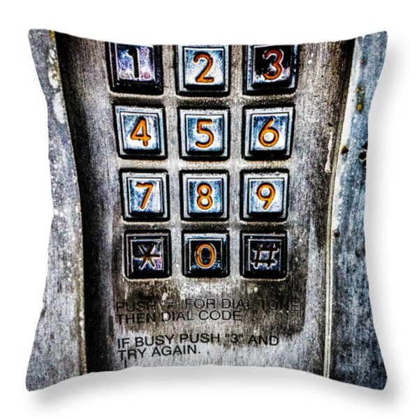 Press Three And Try Again Throw Pillow by Bob Orsillo