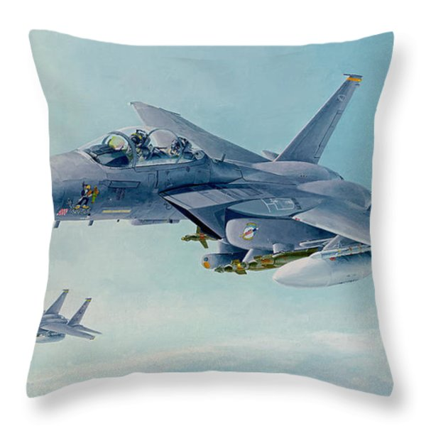 Pressing West at FRISCO Throw Pillow by Wade Meyers