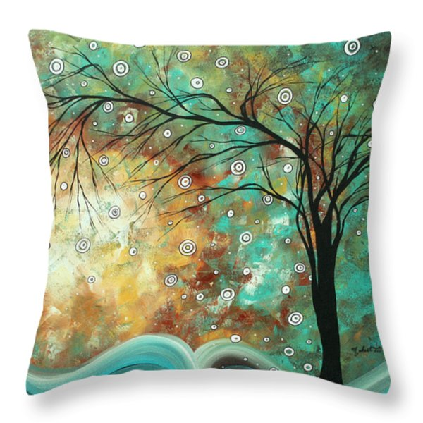 Pretty As A Picture By Madart Throw Pillow by Megan Duncanson