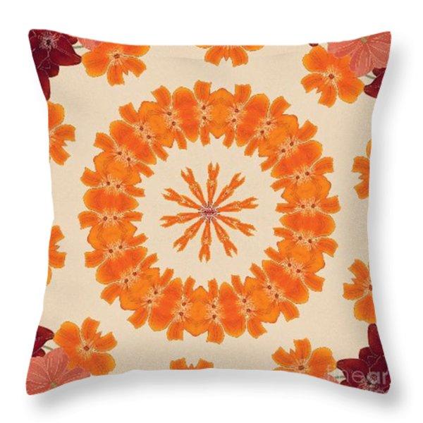 Pretty In Orange Throw Pillow by Lena Photo Art