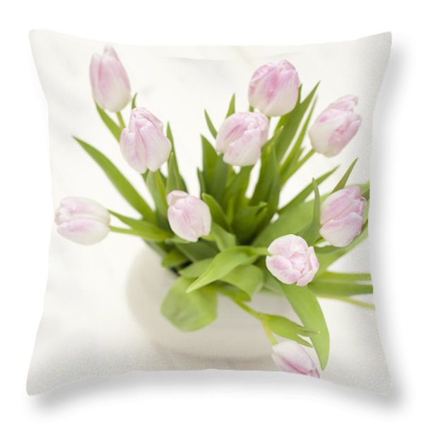 Pretty In Pink Throw Pillow by Anne Gilbert