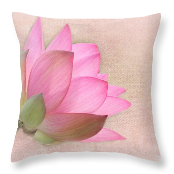 Pretty in Pink Lotus Blossom Throw Pillow by Sabrina L Ryan