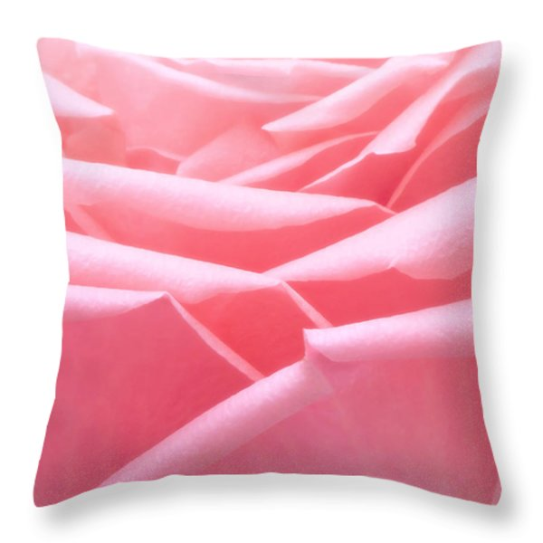 Pretty In Pink Throw Pillow by Wim Lanclus