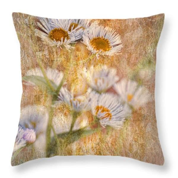 Pretty Little Weeds IIi Throw Pillow by Debbie Portwood