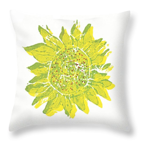 Pretty Sunflower  Throw Pillow by Lynn-Marie Gildersleeve