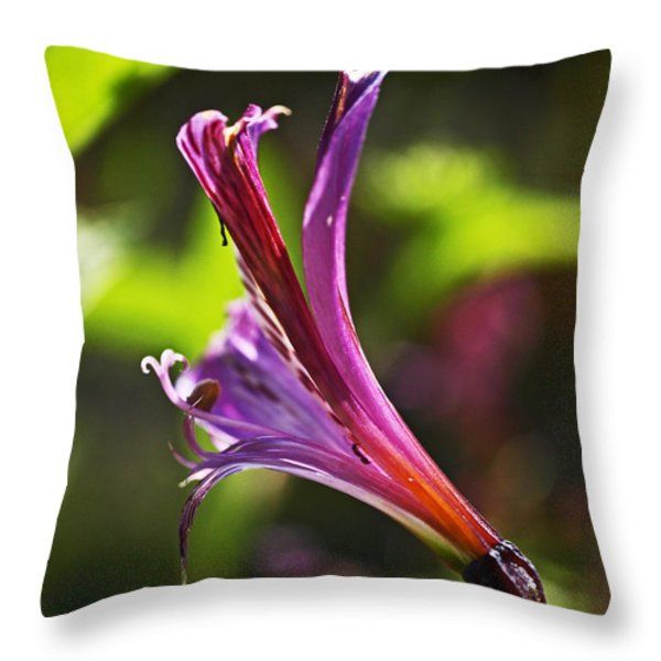 Pretty Young Thing Throw Pillow by Rona Black