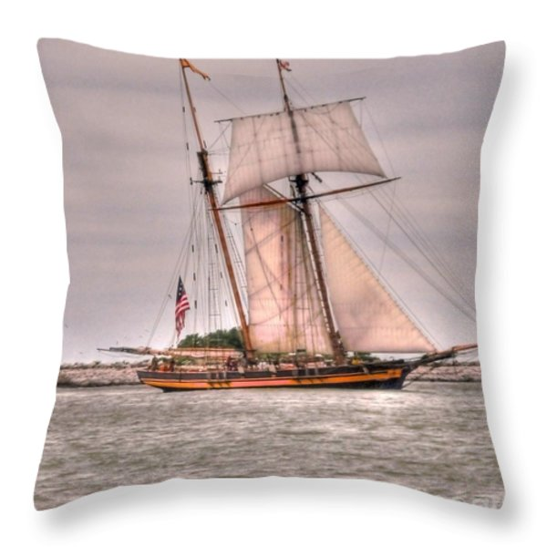 Pride Of Baltimore Throw Pillow by Kathleen Struckle