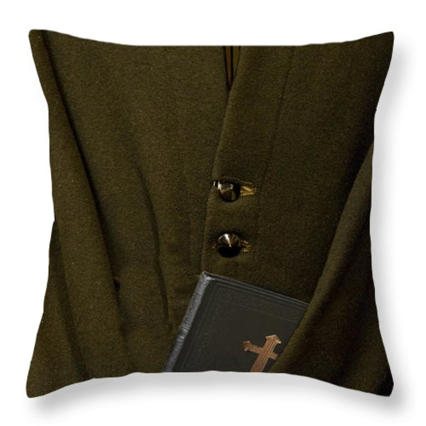 Priest Throw Pillow by Margie Hurwich