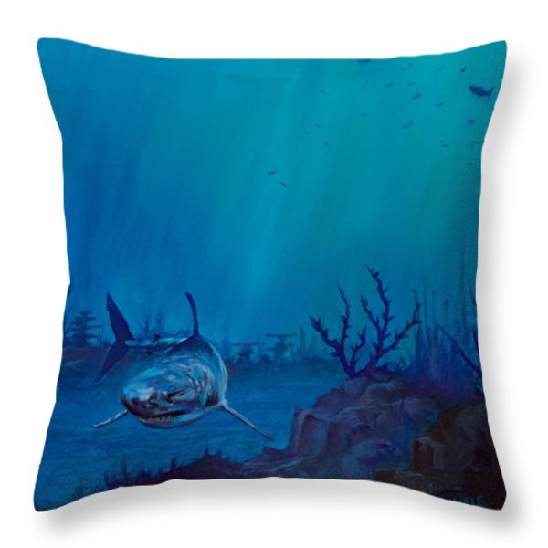 Primal Beauty Throw Pillow by C Steele