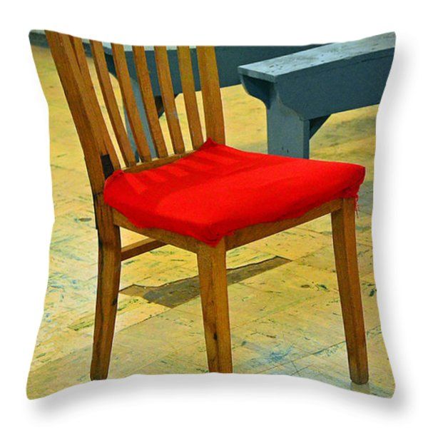 Primary Colors Throw Pillow by Lauren Hunter