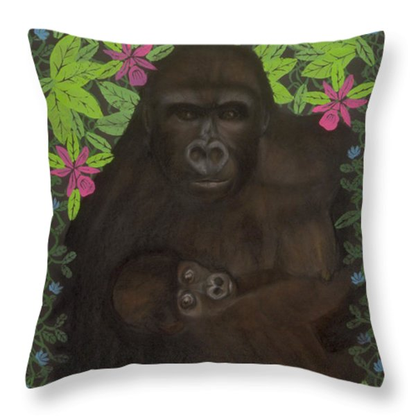 Primordial Spirit of Motherhood Throw Pillow by Diana Perfect