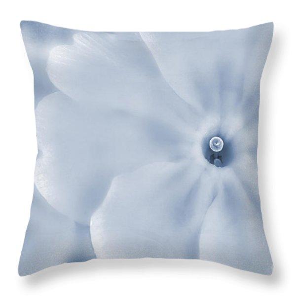 Primrose Cyanotype Throw Pillow by John Edwards