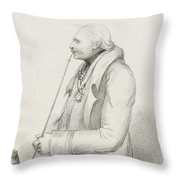 Prince Blucher Throw Pillow by Samuel Freeman