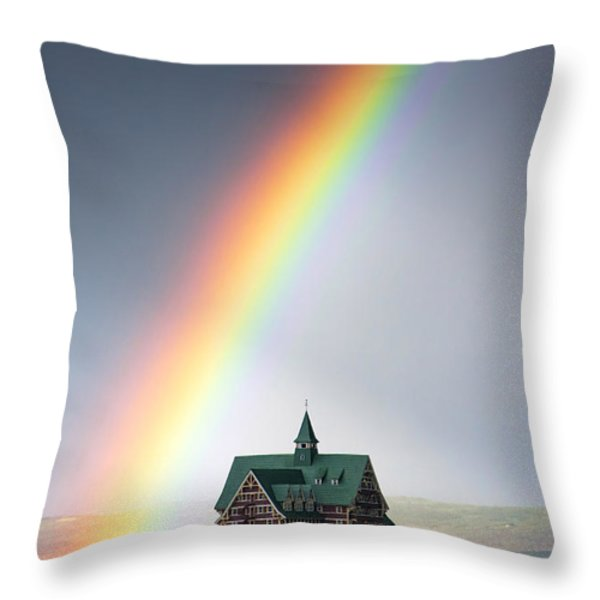 Prince Of Wales Rainbow Throw Pillow by Mark Kiver