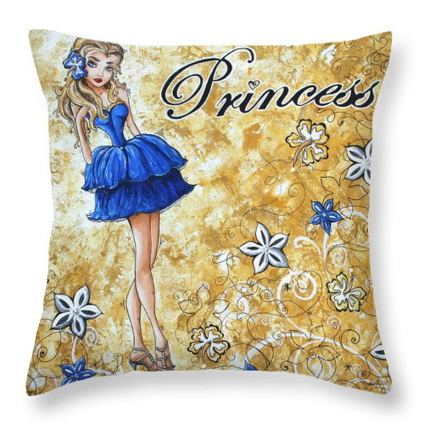 Princess By Madart Throw Pillow by Megan Duncanson