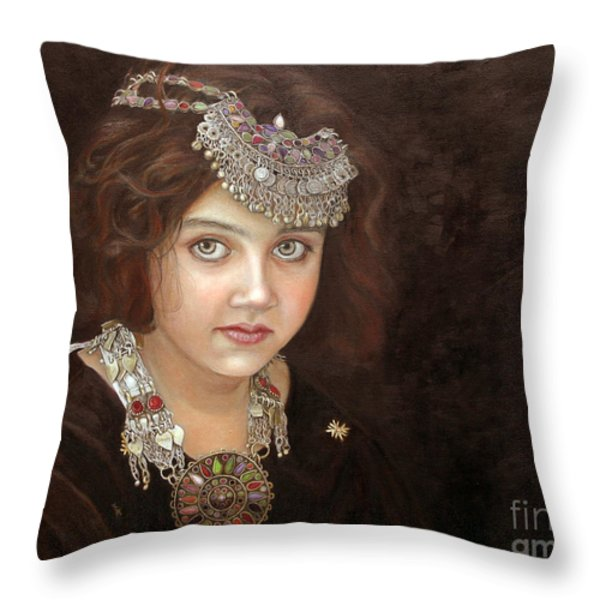 Princess Of The East Throw Pillow by Enzie Shahmiri