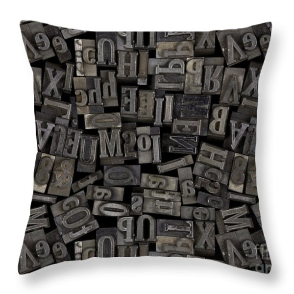 Printing Letters 2 Throw Pillow by Bedros Awak