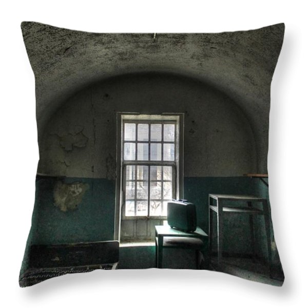 Prison Cell Throw Pillow by Jane Linders