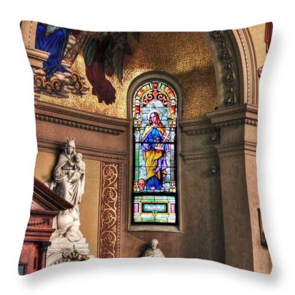 Projections Of Faith Throw Pillow by Gary Yost