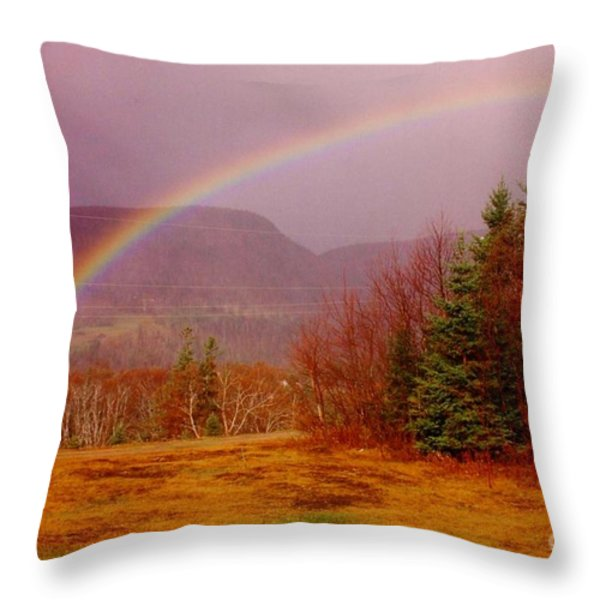 Promise And Hope Cape Breton Throw Pillow by John Malone