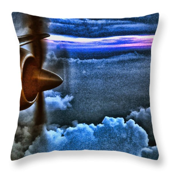 Propeller Sunrise Hdr Throw Pillow by Bellesouth Studio