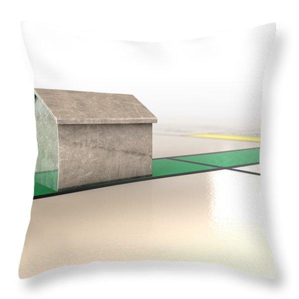 Property Monopoly Throw Pillow by Allan Swart