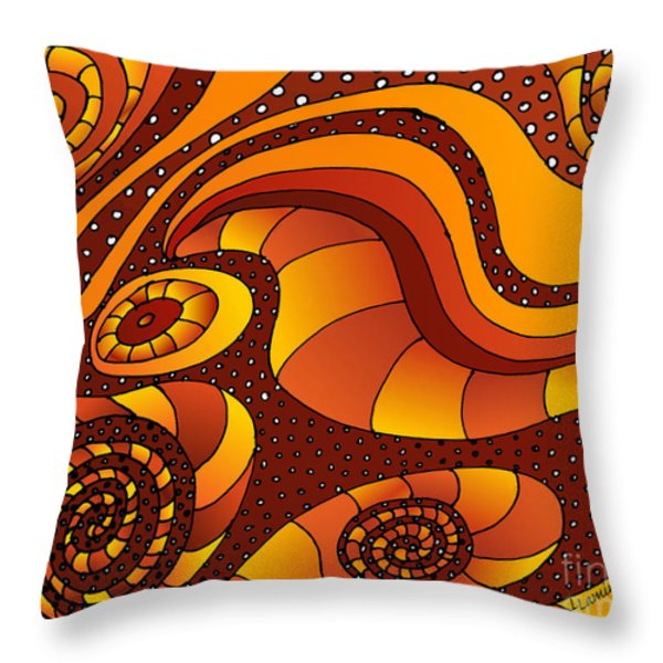 Prosperity  Throw Pillow by Louise Lamirande