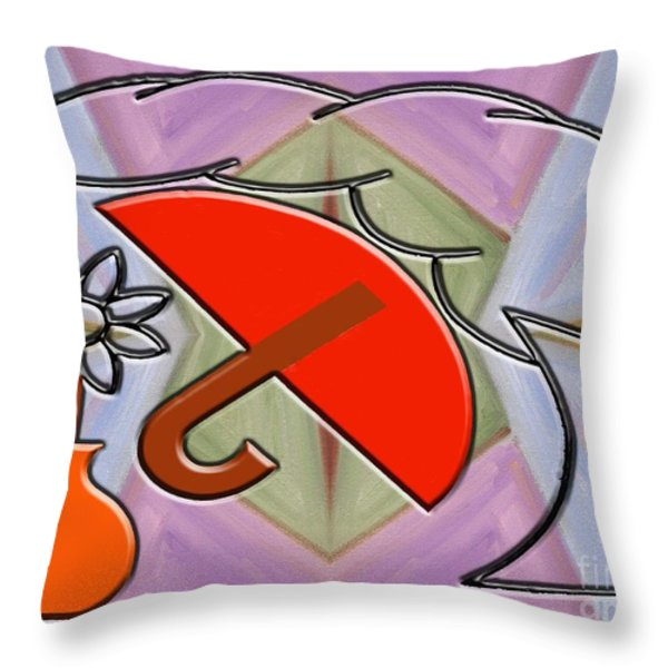 PROTECTED BY THE LIGHT OF LOVE Throw Pillow by Patrick J Murphy