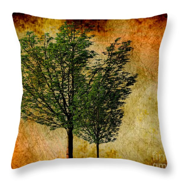 Protected Together Throw Pillow by Cheryl Young