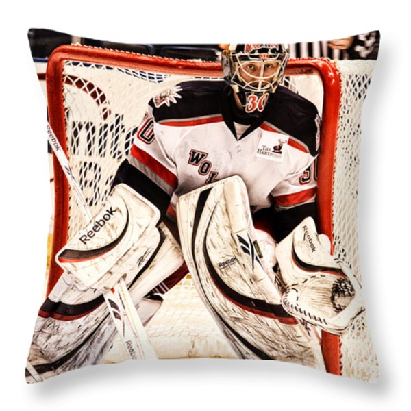 Protecting The Net Throw Pillow by Karol  Livote