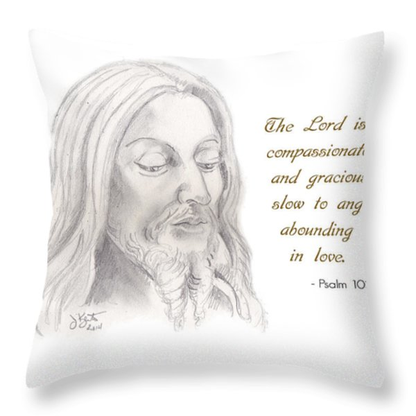 Psalm 103 Verse 8 Throw Pillow by John Keaton