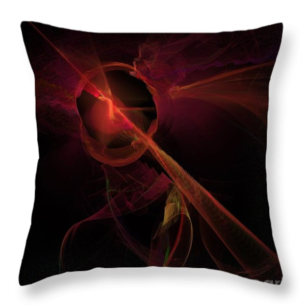 Psyche Throw Pillow by Elizabeth McTaggart