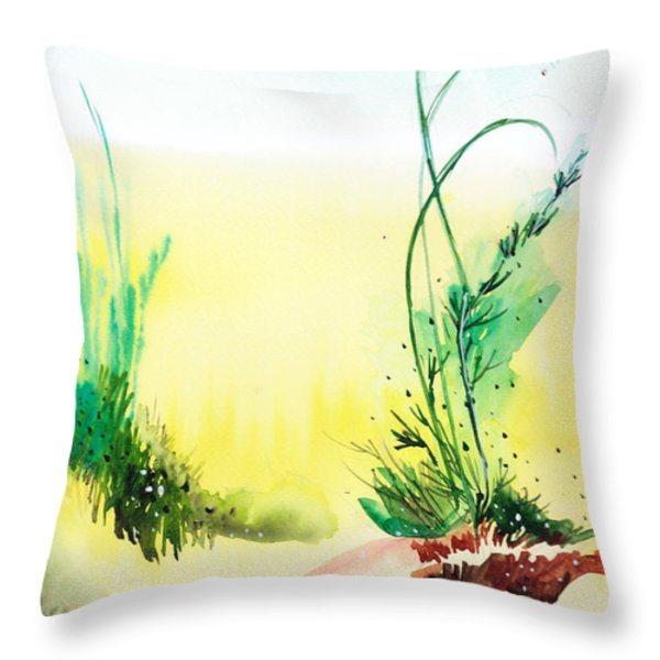 Psychedelic Throw Pillow by Anil Nene