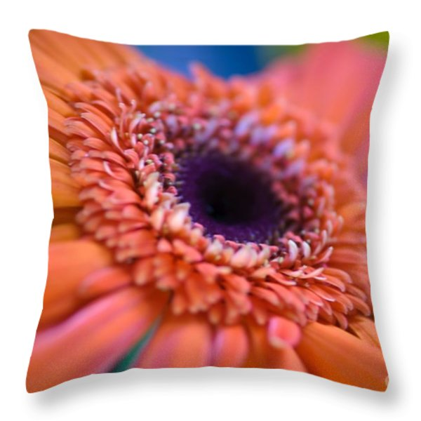 Psychedelic Throw Pillow by Charles Dobbs