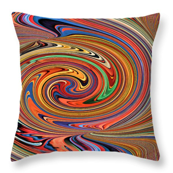 Psychedelic Throw Pillow by Kristin Elmquist