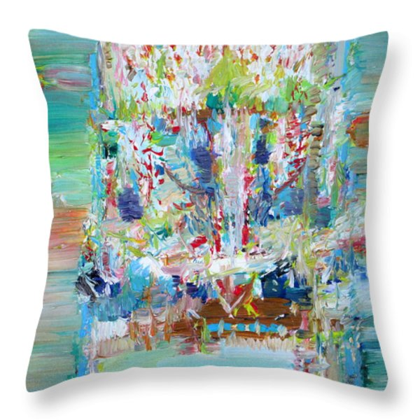 PSYCHEDELIC OBJECT Throw Pillow by Fabrizio Cassetta
