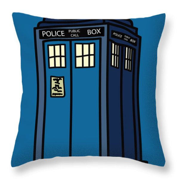 Public Call Box Throw Pillow by Jera Sky