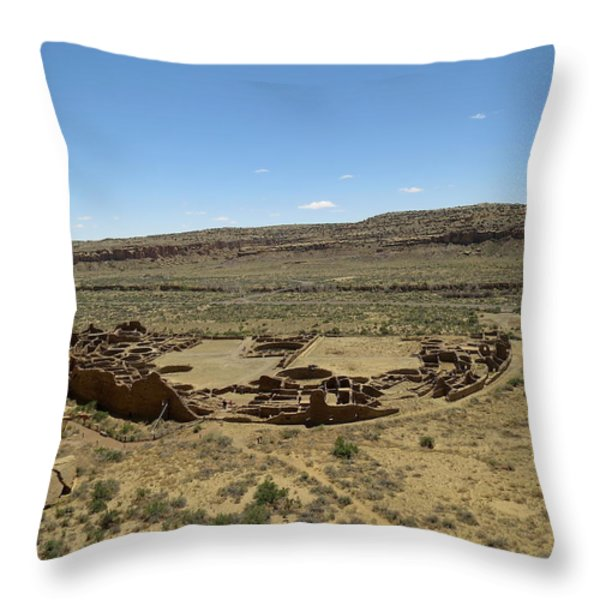 Pueblo Bonito From Above Throw Pillow by Feva  Fotos