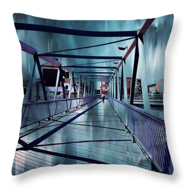 Puente De La Trinidad 1. Malaga Bridges. Spain Throw Pillow by Jenny Rainbow