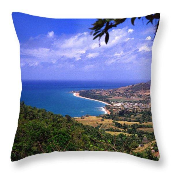 Puerto Rico Sea View Throw Pillow by Thomas R Fletcher