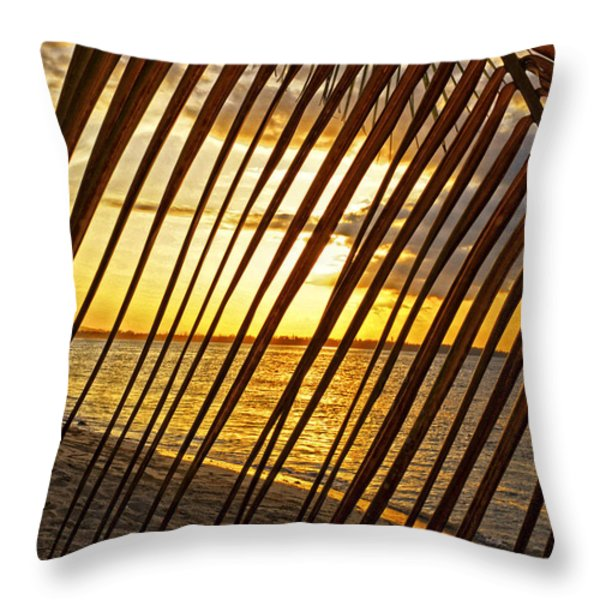 Puerto Rico Sunset 2 Throw Pillow by Stephen Anderson